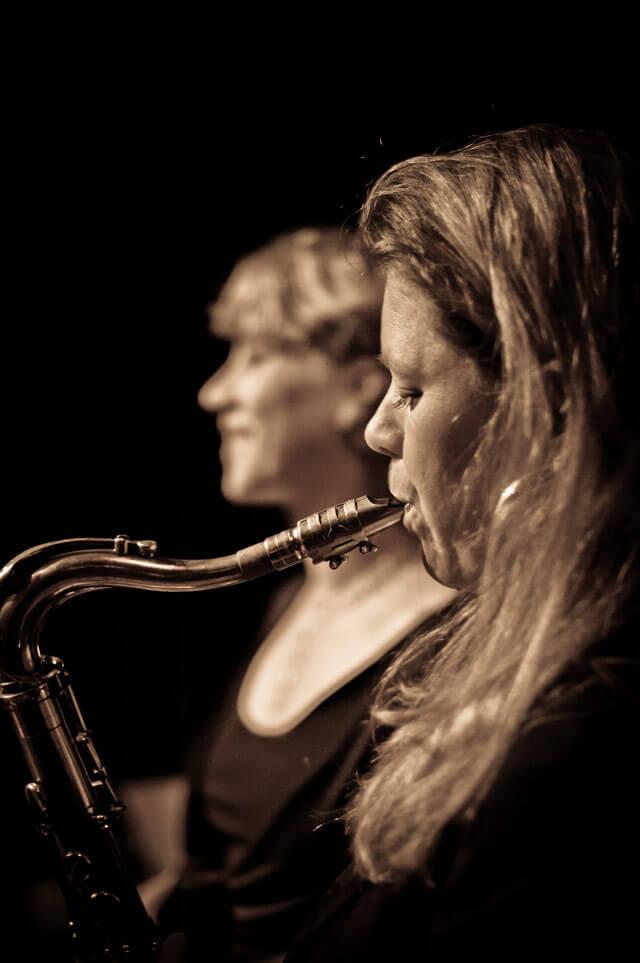 Janine Schrader Galerie Saxophon Duo